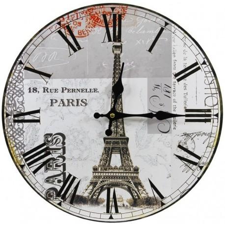 jasny zegar z motywem wieży eiffla