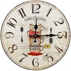 Zegar Do Kuchni z Filiżankami