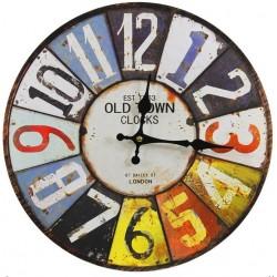 Zegar Retro Kolorowy