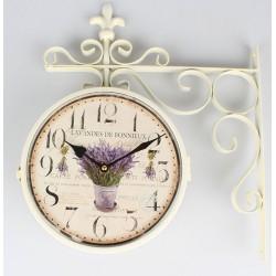 Zegar Dworcowy z Lawendą