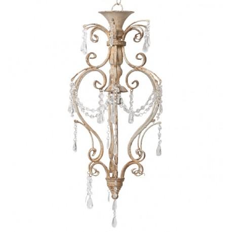 eleganci żyrandol o pięknym kolorze ozdobiony kryształkami