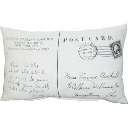 Poduszka Francuska Pocztówka Kwadratowa