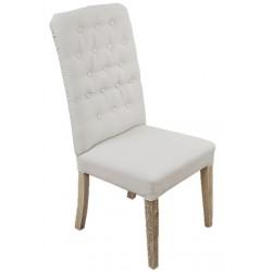 Krzesło Prowansalskie Tapicerowane Pikowane