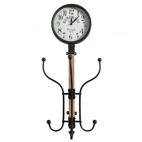 Prosty zegar mający, metalowe wieszaki