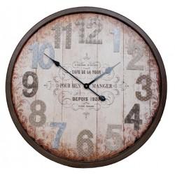Zegar Retro z Kolorowymi Cyframi