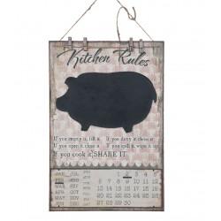 Tablica Do Pisania Kredą Z Kalendarzem