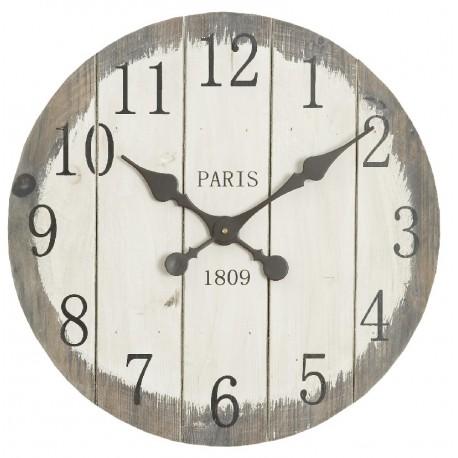 Drewniany zegar prowansalski w dwukolorowej tarczy
