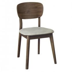 Krzesło Tapicerowane Oslo Walnut