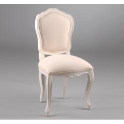 Krzesło Tapicerowane Prowansalskie Crema