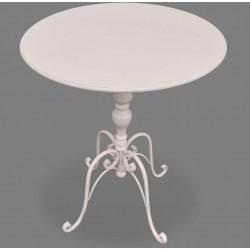Metalowy Stolik Prowansalski Biały