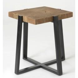 Stolik Loft z Drewnianym Blatem
