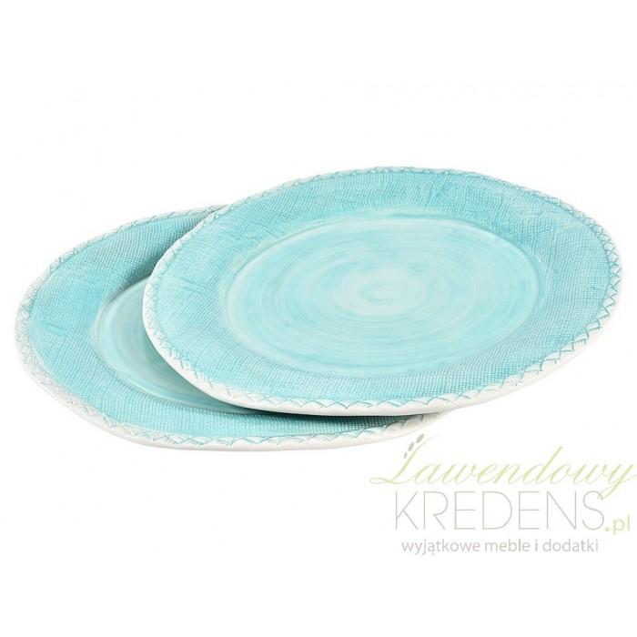 Subtelnie niebieskie talerze od Belldeco - pomysł na zaskakującą zastawę stołową.