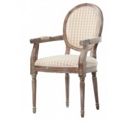 Krzesło Tapicerowane z Podłokietnikami Prowansalskie Palida Aluro B