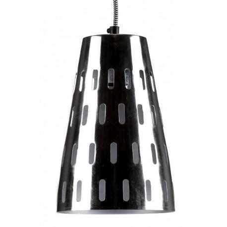 srebrna metalowa lampa