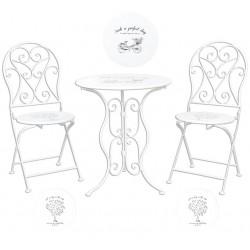 Meble Ogrodowe Prowansalskie Stolik z Krzesłami