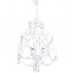 Żyrandol Prowansalski z Koralikami Biały
