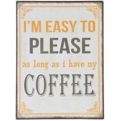 Metalowy Obrazek Coffee 1