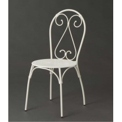 Krzesło Metalowe Prowansalskie Białe B