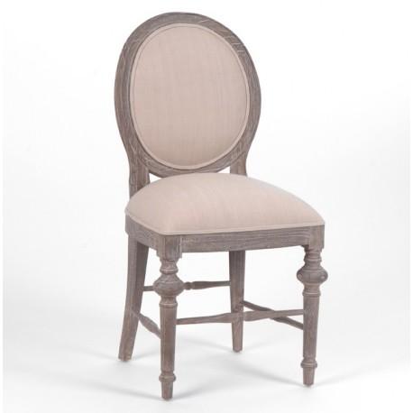 Krzesło w Stylu Prowansalskim Bielone Livio