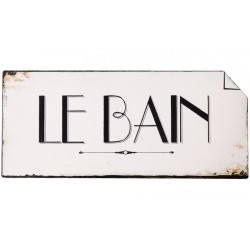 Tabliczka Łazienkowa Le Bain