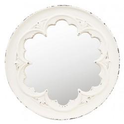 Lustro Prowansalskie Okrągłe Kremowe
