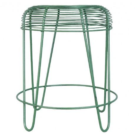 Metalowy Stołek Zielony A