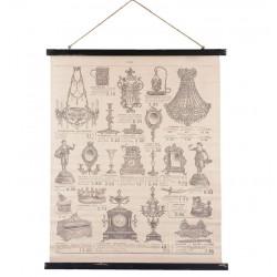 Obraz Vintage Mapa z Dekoracjami