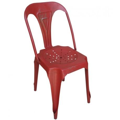 Krzesło Industrialne Pomarańczowe