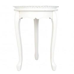Stolik Prowansalski Biały Okrągły