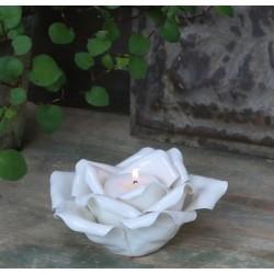 Świecznik Na Tealight Róża Porcelanowy