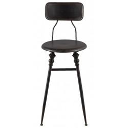 Metalowe Krzesło Czarne B
