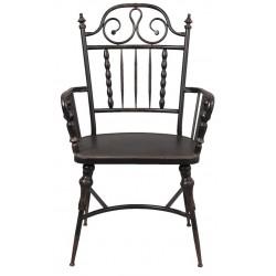 Metalowe Krzesło Czarne A