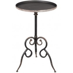 Metalowy Stół Czarny