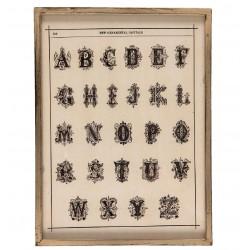 Obraz Vintage z Alfabetem