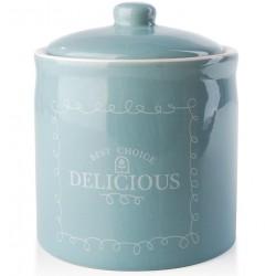 Pojemnik Kuchenny Błękitny Ceramiczny