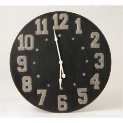 Duży Zegar Czarny