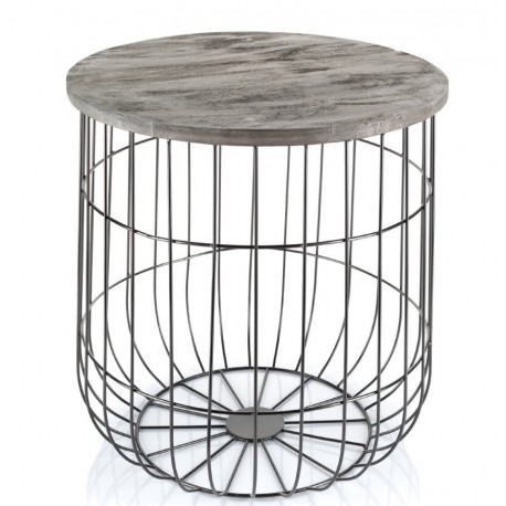 Stolik Aluro w stylu skandynawskim to zestawienie pojemnego kosza z funkcjonalnym stolikiem.