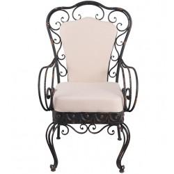 Fotel Metalowy Tapicerowany