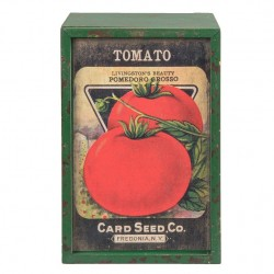 Drewniane Pudełko Retro Pomidory