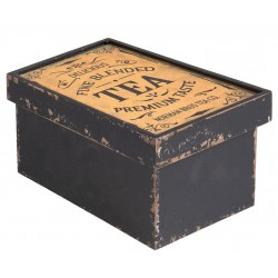 Drewniane Pudełko Retro Herbata