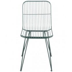 Metalowe Krzesło Loft Zielone