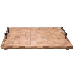 Drewniana Taca z Uchwytami A