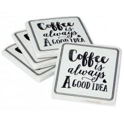 Podkładki Pod Kubek Retro Coffee 4szt. B