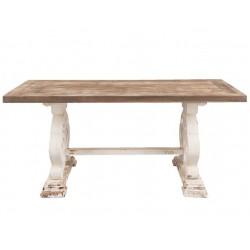 Stół Prowansalski Kremowo-Brązowy