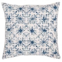 Poszewka Ozdobna w Niebieskie Kwiaty C