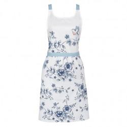 Fartuch Kuchenny Prowansalski w Niebieskie Kwiaty