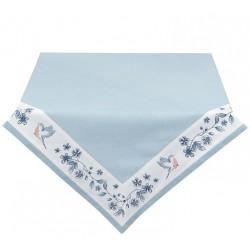 Obrus Prowansalski w Niebieskie Kwiaty Kwadratowy A