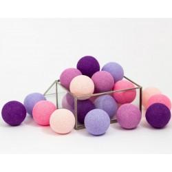 Cotton Balls Fioletowe 20 kul