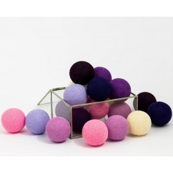 Cotton Balls Dark Berry 20 kul
