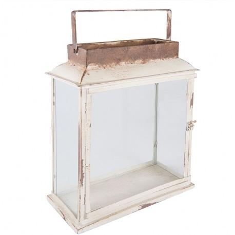 Lampion stanowiący połączenie szkła i metalu to najlepsze co możesz wybrać do oświetlenia balkonu lub salonu.